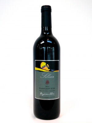 bottle of 2013 sangiovese