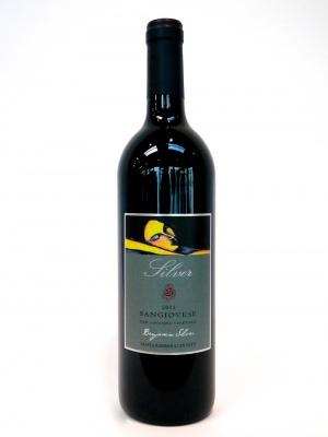 bottle of 2013 sangiovese