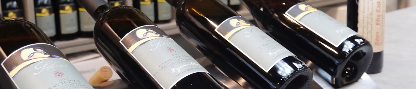 silver wine bottles